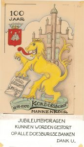 H20 Koninklijk Doesborgh's Mannenkoor Jubileumbijdragen voor 100-jarig bestaan 1878-1978 Doesburg