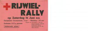 L2 Rijwielrally ten bate van het Rode Kruis Zaterdag 14 juni Startplaats Groenmarkt