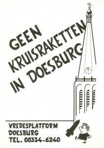 K18 Vredesplatform Doesburg Geen kruisraketten in Doesburg Doesburg