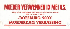 G31 Doesburg 2000 Moederdag verrassing T/m zaterdag 12 mei Doesburg