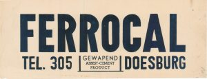 G36 Ferrocal, gewapend asbest-cement product Doesburg