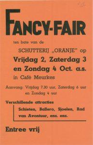 D13 Fancy Fair ten bate van Schutterij Oranje Vrijdag 2, zaterdag 3 en zondag 4 oktober Café Meurkens, Doesburg