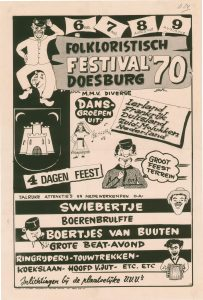 D24 Folkloristisch festival ´70 met medewerking van diverse dansgroepen 6, 7, 8 en 9 augustus 1970 Doesburg