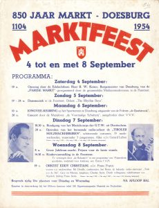 D30/E34 Marktfeest 850 jaar markt Doesburg 4 t/m 8 september 1954
