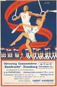 B55 Gymnastiekvereniging Eendracht Uitvoering ter gelegenheid van 10-jarig bestaan, zaterdag bal na Vrijdag 15 en zaterdag 16 december Concertzaal, Doesburg