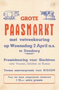 D15 Grote paasmarkt met vetveekeuring en premiekeuring van slachtvee Woensdag 2 april Doesburg