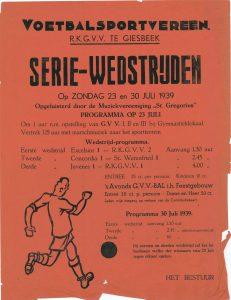 B36/B78 Voetbalsportvereniging R.K. G.V.V. Giesbeek Seriewedstrijden 1939