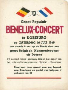 A160 Groot populair Benelux Concert op de markt door Groot Belgisch Harmonie-corps uit Deurne 1949