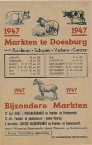 D1 Doesburgse Marktvereniging - Marktkalender 1947