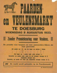 D37 Paarden- en veulensmarkt Doesburg 1923